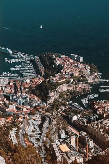 Monaco-Ville, the old town of Monaco Travel Destinations Monaco City 😍 Monaco EyeEm Best Shots Water Sea High Angle View Nature No People Sunlight Built Structure Architecture Building Exterior Day Beauty In Nature Outdoors City Scenics - Nature Tranquility Cityscape