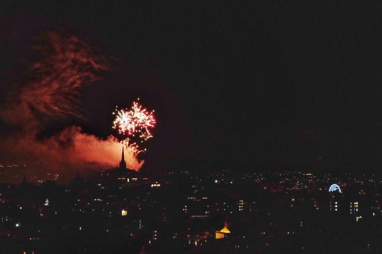 Fireworks display at the end of the Edinburgh Festival Edinburgh Scotland FUJIFILM X-T10