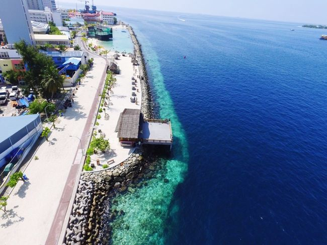 Maldives High Angle View Water Aerial View Sea Day Dji Djiphotography City ArtificialBeach