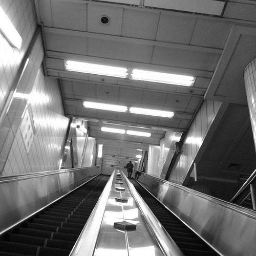 With Polaroid Snap 내가찍음 Polaroid Polaroidsnap Metro Subway Escalator Station Unprocessed Black Blackandwhite 폴라로이드 폴라로이드스냅 무보정 지하철 지하철역 숭실대 에스컬레이터 집오는길 흑백