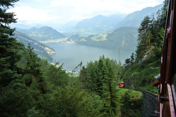 Lost In The Landscape Switzerland The Top Of The Mountain Nofilter Mountains The Top  View Sky Lake View Luzern Lake Train Train In The Mountain Beauty In Nature Perspectives On Nature