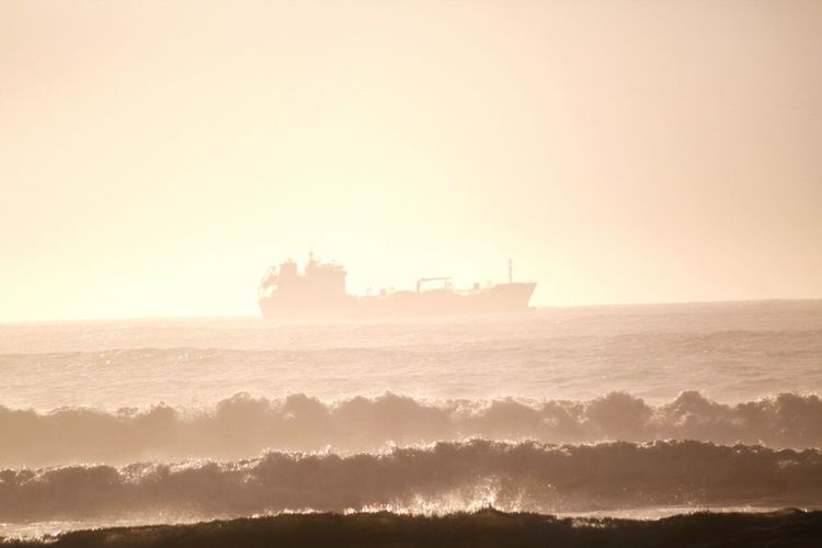Sea Transportation Nautical Vessel Water Beach Sky Nature Day No People Outdoors Beauty In Nature Ship Wave Nature Ghostship Ghostships