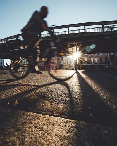 Bicycle Sunbeam Road Shadow Lens Flare What's On The Roll EyeEm Best Shots City Berlin