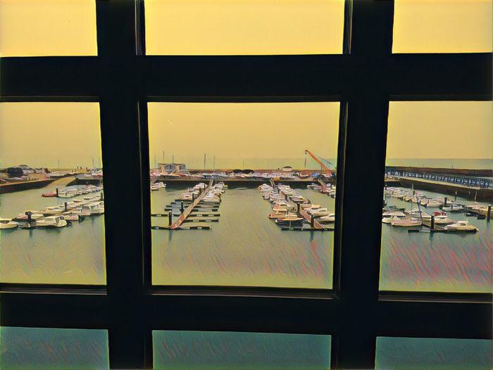 City Water Cityscape Window Sky Sailboat Marina Port Yacht