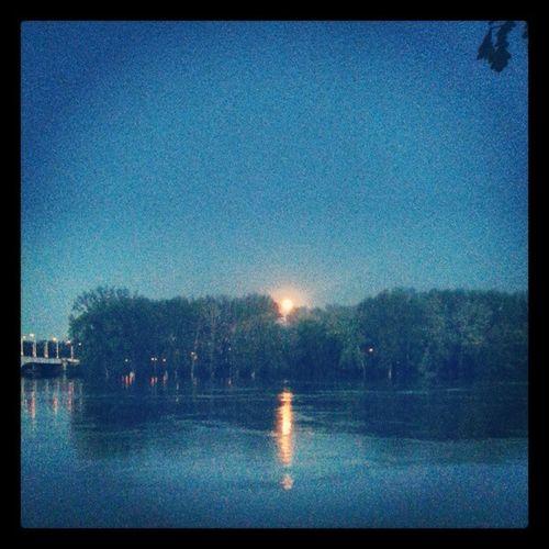When the sun goes down.. Szeged Sunset Flood