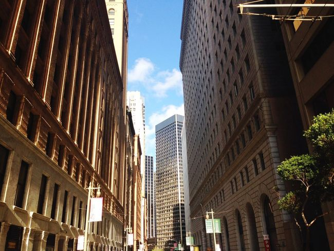Architecture City Building Exterior Skyscraper Built Structure Modern Low Angle View Outdoors Sky Day No People California USA Photos Downtown District EyEmNewHere