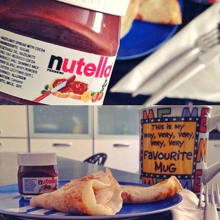 Bonjourrrrr Cafe Time Lundi Matin Crėpechocolat Nutella 😋😋☕️