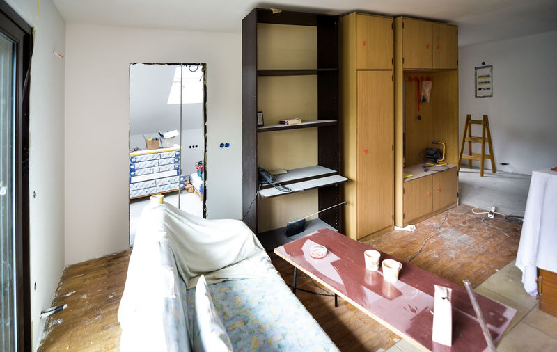 Interior of home during renovation