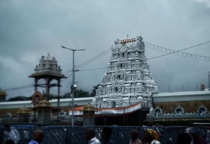 Tirupati Balaji Temple. Travel Destinations Architecture History Built Structure Cold Temperature Day Building Exterior Outdoors Sky Balaji Balajitemple Temple Hindu Hinduism Hindu Temple Tirupati Tirumala Tirumala Tirupati Devasthanams God Hindugod