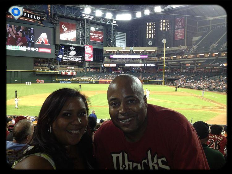 DBacks baseball game with my boo! Fun night!