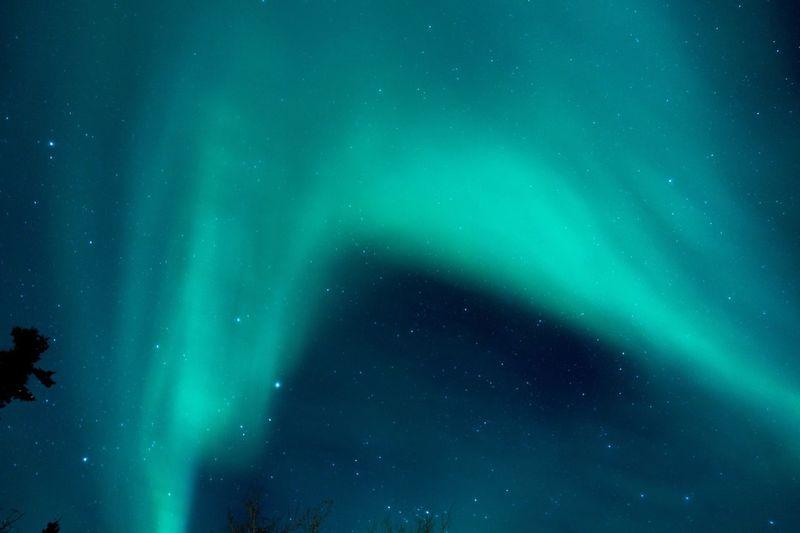 Idyllic Shot Of Aurora Borealis In Sky