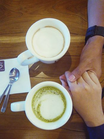 Our time... Holiday POV Hand In Hand Coffee Shop Coffee Time Coffee Date Taking A Break Justyouandme