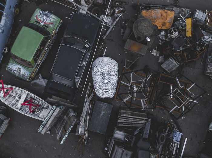 Face Aerial View Aerial Drone  Dji High Angle View Directly Above Sculpture Abstract