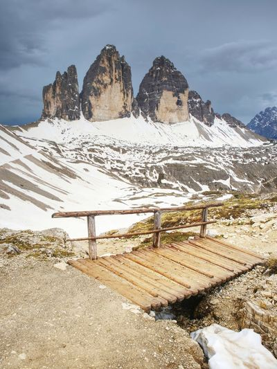 Great alpine tre cime di lavaredo massif. location national park, dolomiti south tyrol, italy