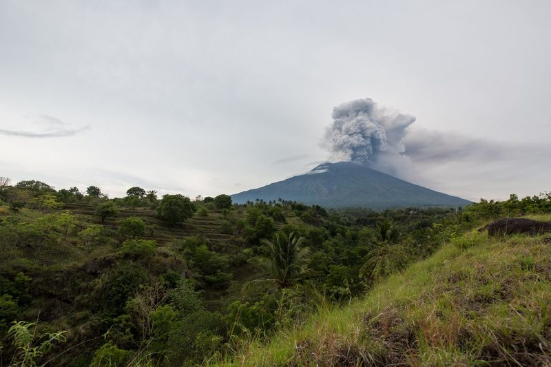 Mount Agung eruption Volcano Nature Mountain Erupting Beauty In Nature Smoke - Physical Structure Day Volcanic Landscape No People Tranquility Scenics Power In Nature Volcanic Crater Physical Geography Landscape Outdoors Sky Danger Bali Mt Agung 2017