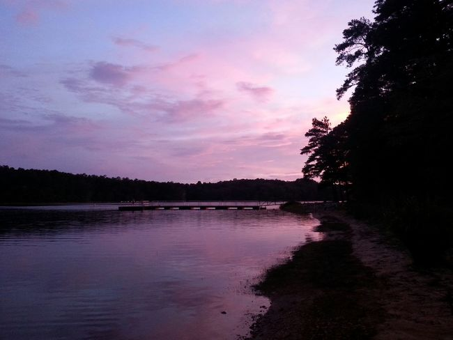 Sunset Fishing Hole Pink Lakeside My Peaceful Place Calming Outdoors Safehaven Sunset_collection Beautiful Nature