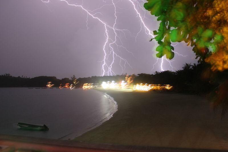 Thailand My Best Foto Wallpaper Lighting Storm Full Moon Party Beach Kho Phangan Long Exposure Paradise