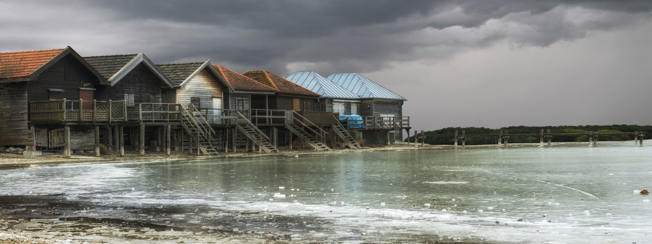 Boat house on