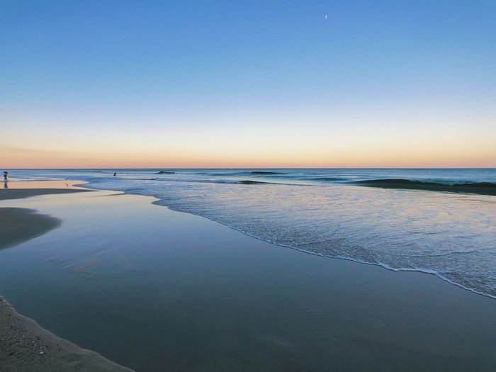 Water Sky Sea Scenics - Nature Beauty In Nature Tranquility Tranquil Scene Beach Land Horizon Over Water Horizon Clear Sky Copy Space Nature Blue No People Idyllic Sunset Day Outdoors