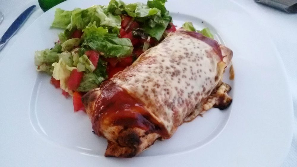 Food Food And Drink Plate No People High Angle View Meat Freshness Healthy Eating Indoors  Ready-to-eat Close-up Day Comfort Food Food And Drink Greek Food Wrap