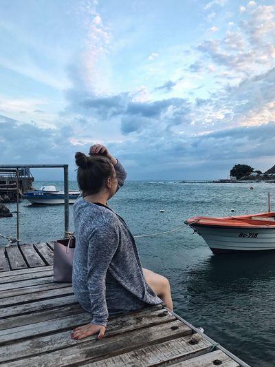 Cloads Waves Pier Clouds Clouds And Sky Evening Sky Evening Bulgaria Landscape Woman Sky Boat Sea