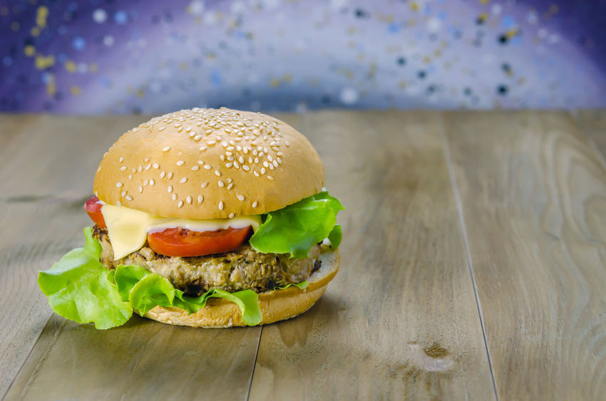Bread Bun Burger Close-up Day Fast Food Focus On Foreground Food Food And Drink Freshness Hamburger Indoors  Lettuce Meat No People Ready-to-eat Sesame Take Out Food Tomato Unhealthy Eating Vegetable