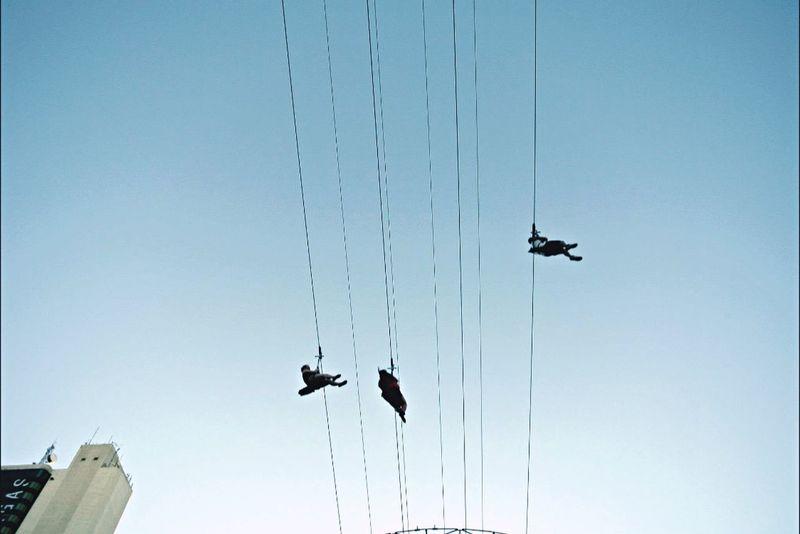 Lookingup Flying Sliding Zipline Las Vegas Freemont Street Freedom Summer Fun OpenEdit