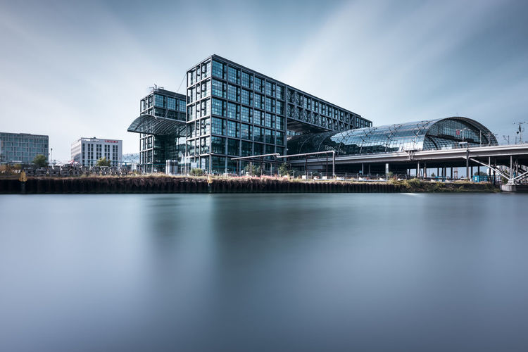 Berlin Central-Station | Berlin, Germany 2016 Architecture Berlin City City Life Cloud - Sky Day Development Germany Hauptbahnhof Berlin Long Exposure Photography Modern No People Office Building Outdoors Reflection River Scenics Sky Skyline Skyscraper Tall Tranquility Water Water Surface Waterfront