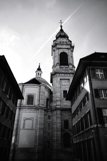 EyeEm Best Shots EyeEm Gallery EyeEm Selects Taking Pictures Taking Photos My Point Of View EyeEm Best Shots - Black + White Old Town Black & White Blackandwhite Monochrome Black And White monochrome photography Architectural Column Light And Shadow Church Switzerland Cathedral Solothurn St.ursen City Clock Tower Place Of Worship History Religion Façade Sky Bell Tower - Tower Tall - High