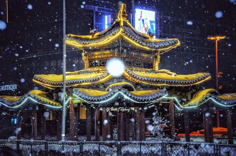 Winter Night Illuminated Snow Star - Space Cold Temperature Astronomy Sky Mongolia Ulaanbaatar Winterwonderland Love The Cold Air😊☀️❄️ Fresh😊❄️💞 EyeEmNewHere