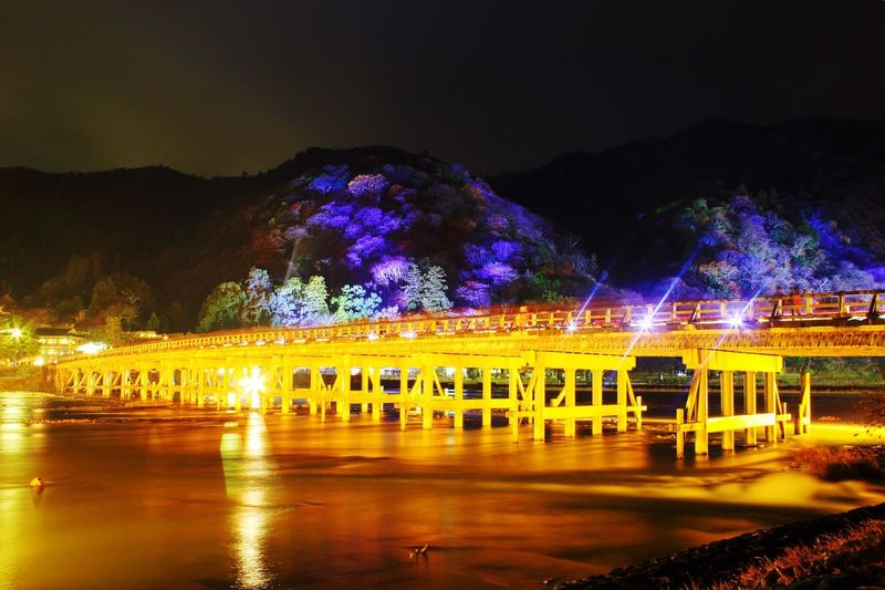 京都 嵐山 渡月橋 花灯路 Kyoto Arashiyama Togetukyou Hanatouro