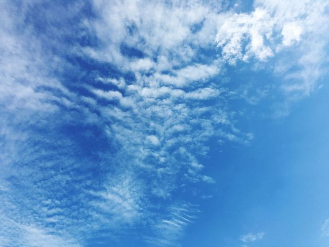 Sky Cloud - Sky Blue Low Angle View Tranquility Beauty In Nature Nature Creative Space