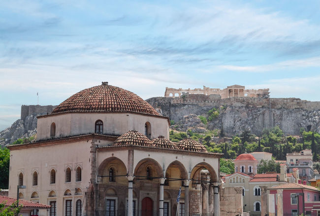 Classicità Parthenon Acropolis Athens Greece Grecia Atene City Dome Cityscape Sky Architecture Building Exterior Cupola Historic Historic Building