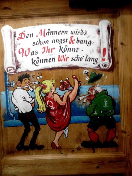 Bayern Dialekt Klo Toilet Spruch Mann Frau Damen Herren