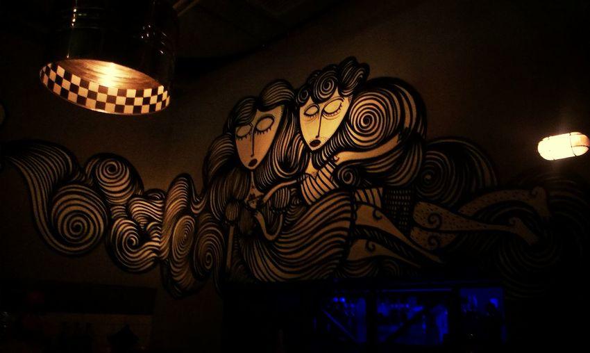 Wall Painting Art, Drawing, Creativity Garage Bar