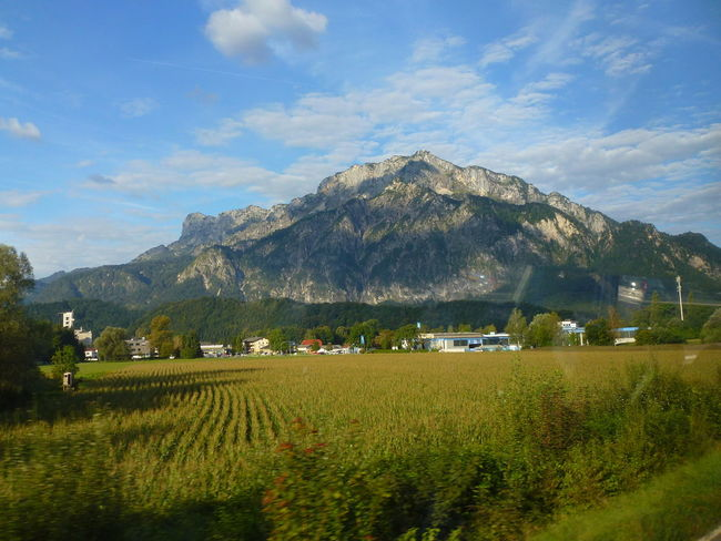 Taken Through A Moving Bus Window Between Salzburg, Austria And Lake Bled,slovenia