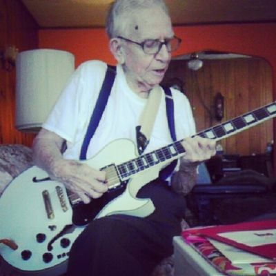 In his 90s and still Rockin
