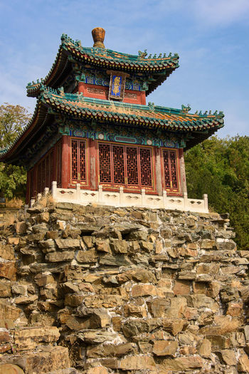 Architecture Building Exterior Built Structure Sky Building Nature Religion Belief Day Place Of Worship Outdoors Beijing China Summer Palace Longevity Hill UNESCO World Heritage Site Palace