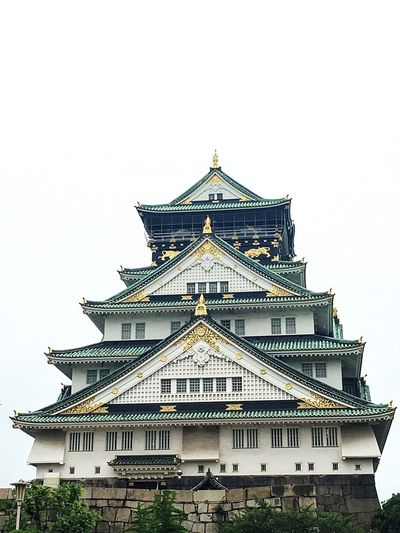 Architecture Built Structure Building Exterior Low Angle View Clear Sky Culture Architectural Feature Spire  Pagoda History Sky Famous Place High Section Exterior Outdoors Façade Tourism Day National Landmark No People OSAKA Osaka Castle Travel Beauty In Nature Tranquility