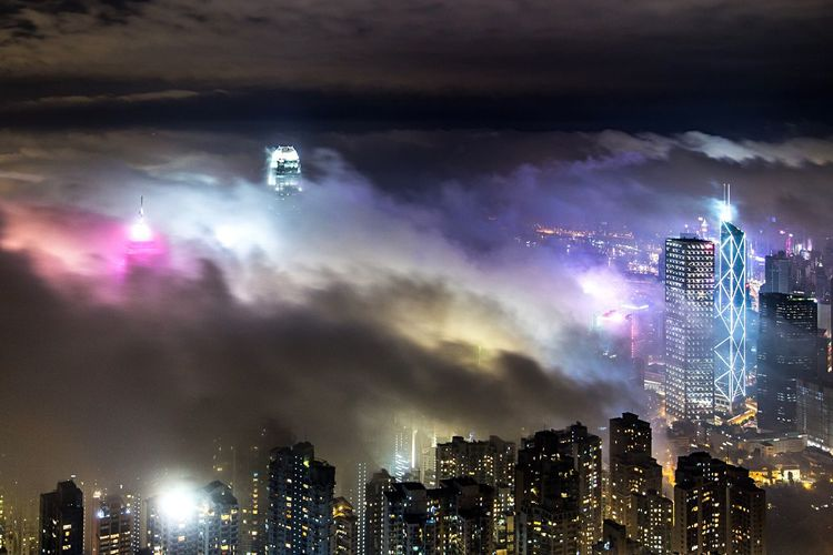 Photography Night Cityscapes Clouds And Sky HongKong First Eyeem Photo