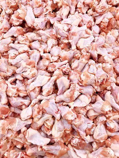 Full frame shot of pink for sale in market