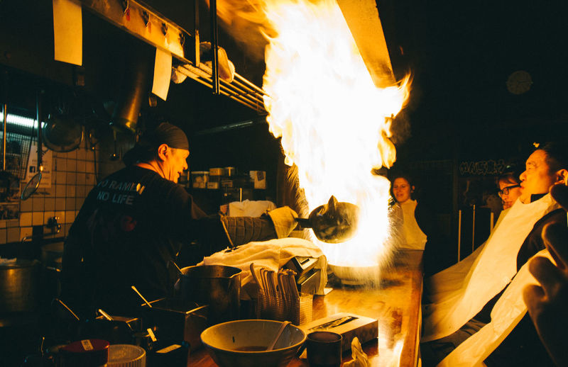 Famous Fire Ramen Restaurant in Japan Flame Food Heat Japan Noodle Ramen Ramen Noodle Restaurant Ultimate Japan Moments Of Happiness