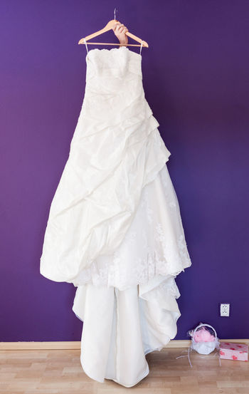 Dress Funny Funny Moments Hanger Hiding In Plain Sight Wall Wedding White Dress Clothing Dress Dressing Up Fashion Hiding Holding Indoors  Purple Purple Wall Rehearsal Rehearsing Standing Wedding Dress Weddingdress Weddingdressrehersal White White Color The Still Life Photographer - 2018 EyeEm Awards 50 Ways Of Seeing: Gratitude