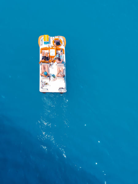 Summer on pedalos Water Blue River Lake Sea Ocean Pedalos People Summer France Lake Aerial Drone  View People Summer Beautiful Holidays Travel Bathers Background Les Gorges Du Verdon Sky Colored Background