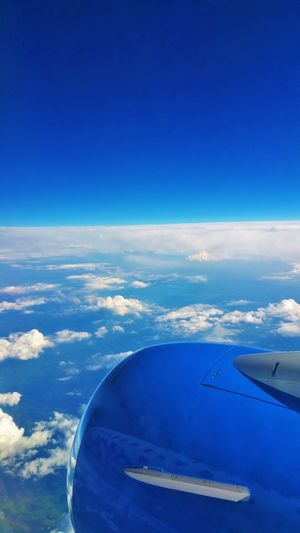 Flight Flight ✈ Flight Blue Sky Fly Away Air Aircraft Window View Flying High ling]Travel Traveling Photography Looking Down Areoplane Airport Enjoying Life Holiday Lovely Weather POV Flying View Like A Bird Jet Engine Looking Summer Feeling Good First Eyeem Photo