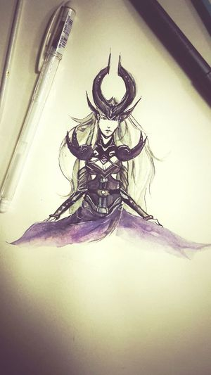 Syndra League Of Legends LOL Gamer Girl Nerd Watercolours Painting