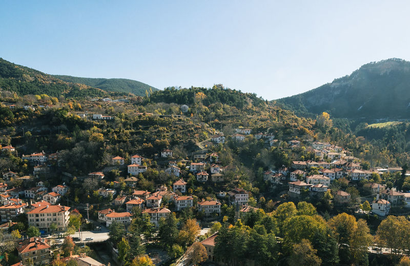 Town View Architecture Bolu..TURKEY Building Exterior Built Structure City Cityscape Clear Sky Day House Mountain Mountain Range Nature No People Outdoors Residential Building Rooftops Sky Taraklı Tiled Roof  Townscapes Tree Turkey