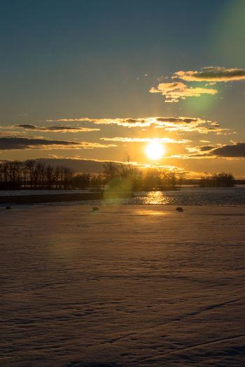 Canada Coast To Coast Idyllic Idyllic Scenery Sunset Sun Sky Scenics - Nature Water Cloud - Sky Beauty In Nature Tranquility Tranquil Scene Nature Sunlight No People Outdoors Orange Color Waterfront Land Non-urban Scene Sea