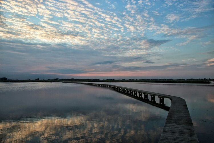 Reflection Sunset Lake Cloud - Sky Water Scenics Sky Outdoors Landscape Beauty In Nature Nature No People Rural Scene Horizon Over Water Roegwold Schildwolde Groningen Netherlands Serene Sky And Clouds Deck Lost In The Landscape