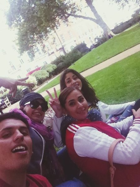 in the park with my friends